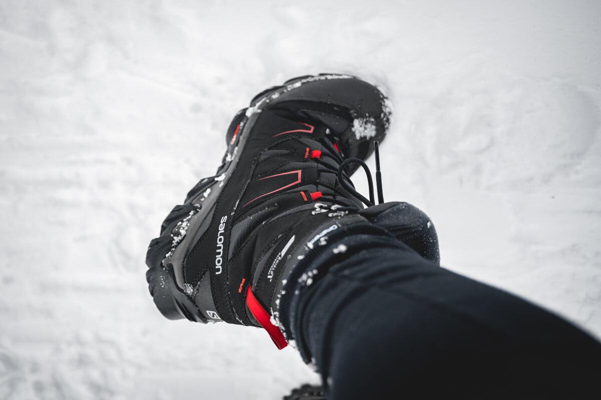 Test matériel chaussures randonnée neige Salomon Snowpine