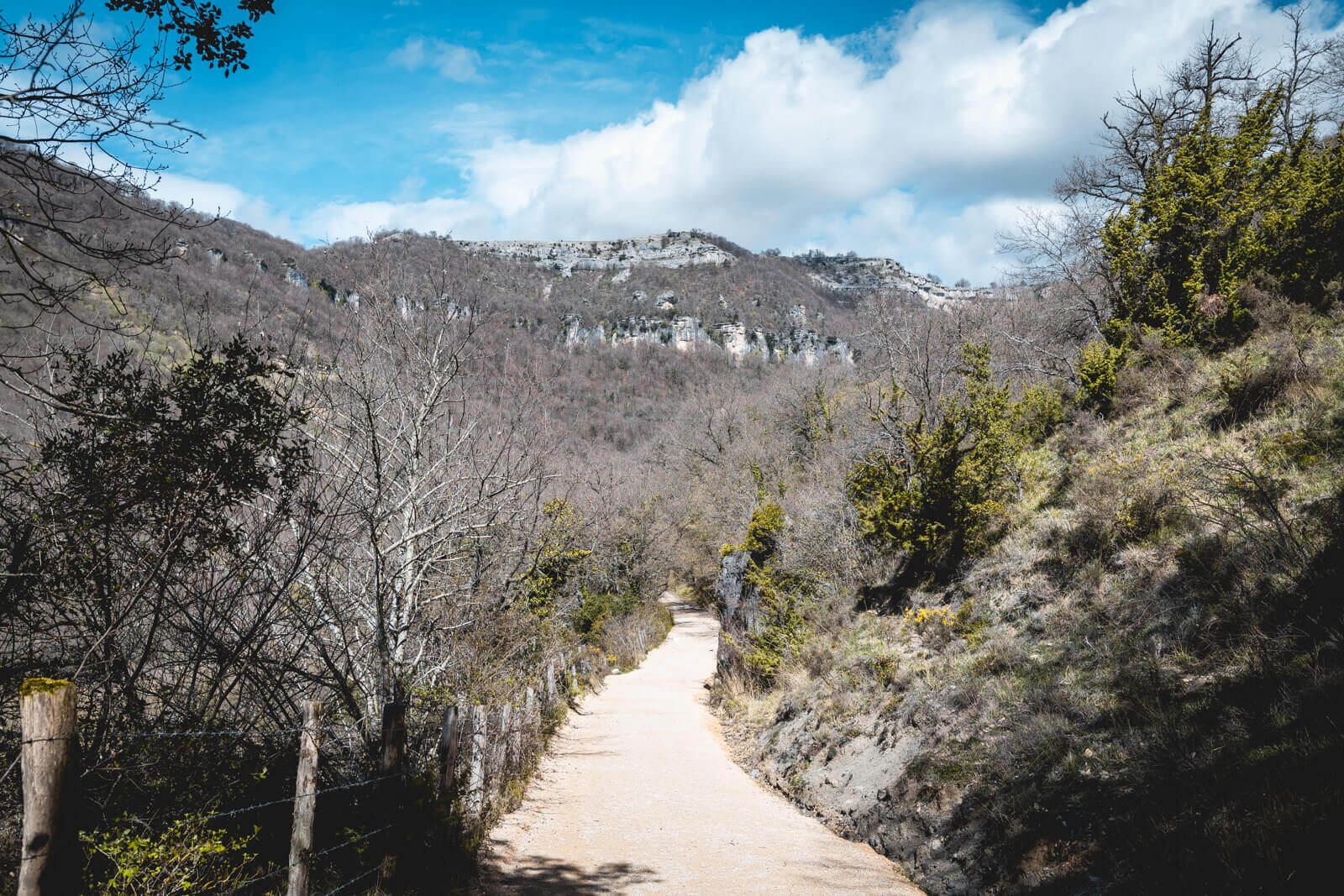 Gorges rivière Urederra Baquedano Navarre Espagne