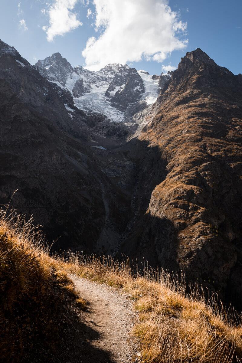 Sentier des crevasses col lautaret automne randonnée balade wildspot