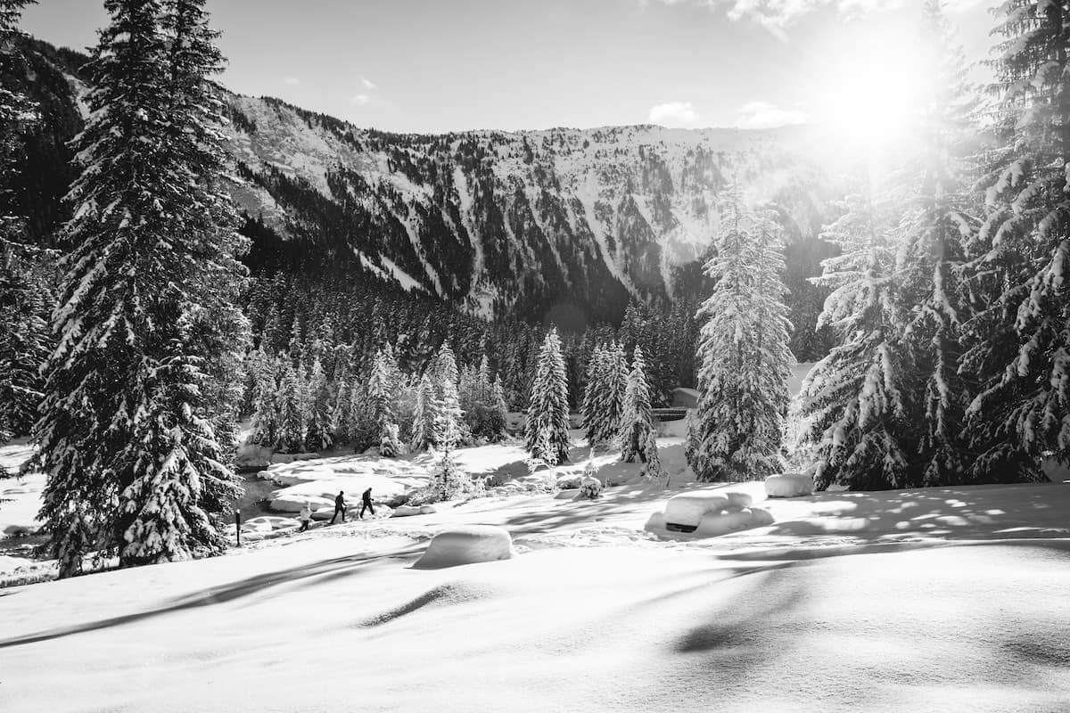 Lac de la Rosière Torrent Courchevel hiver neige Wild Spot photographie