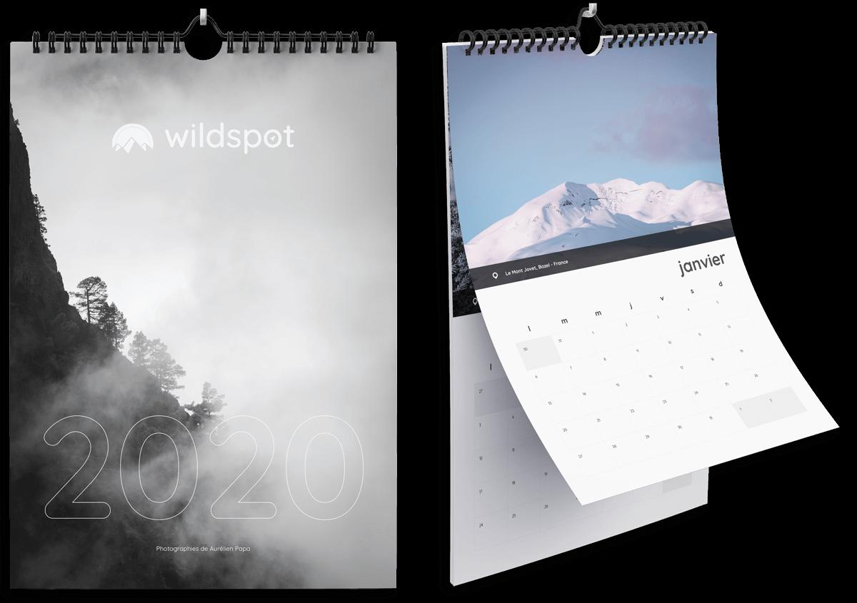 Calendrier Wild Spot 2020 acheter boutique A3 Inspiration créative pour amoureux de nature et de grands espaces photographie voyages découverte